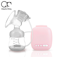 2017 Gleeful Kitty Brand Large Suction Intelligent Automatic Electric Breast Pumps Breast Feeding Mute USB Electric