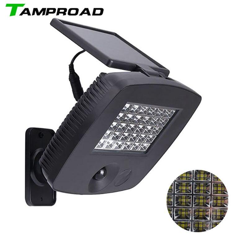 TAMPROAD 200LM 30 LED Solar Powered Ultra Bright PIR Motion Sensor Garage Yard Wall Light Security