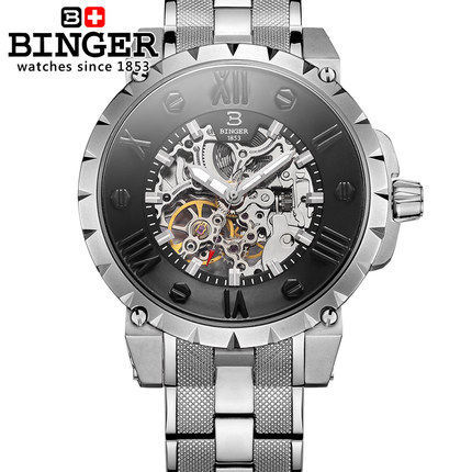 limited Edition New Binger Watches Geneva Stainless Steel wristwatch Man Gifts Watch Luxury Casual Relogio Men