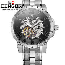 limited Edition New Binger Watches Geneva Stainless Steel wristwatch Man Gifts Watch Luxury Casual Relogio Men Sports wristwatch