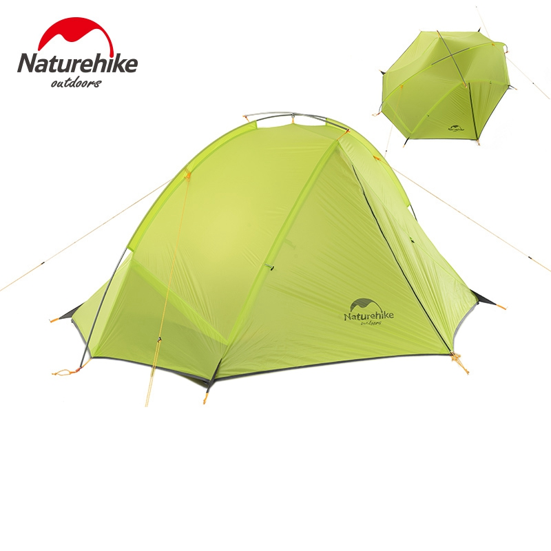 NatureHike 2 Person Tent ultralight 20D Silicone Fabric Tents Double-layer Aluminum Rod Camping Tent Outdoor Tent 4 Season naturehike 3 person camping tent 20d 210t fabric waterproof double layer one bedroom 3 season aluminum rod outdoor camp tent
