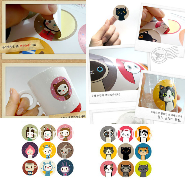 decorative waterproof stickers for cups/bottles/bottle cap/bowls