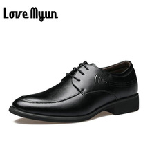 2017 brand new men fashion Genuine Leather dress lace up shoes casual flats soft leather Pointed toe shoes Breathable WA-77