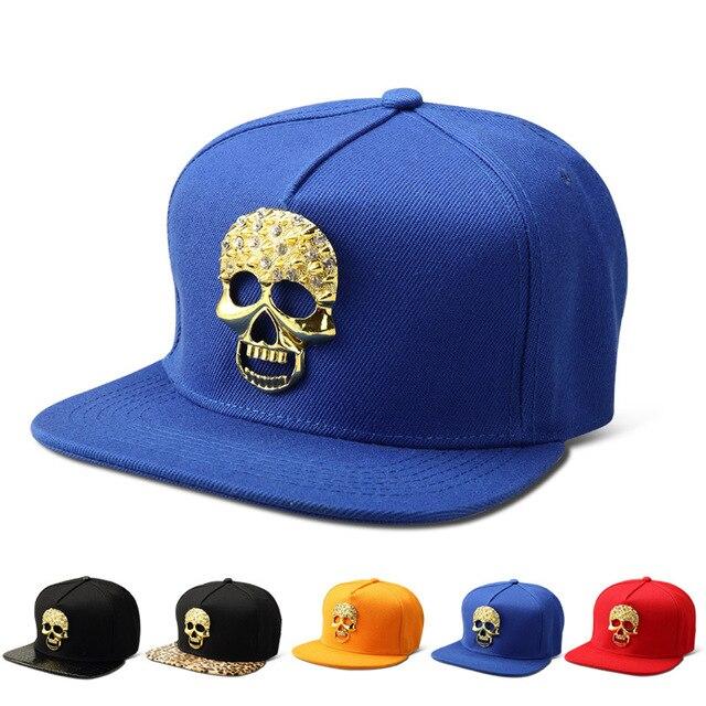Bling diamante Ghost algodón Snapback sombreros hombres mujeres Gorras golf  hueso oro de la cabeza del 292a9291300