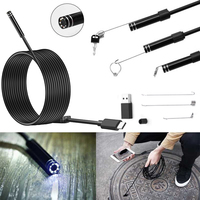 1M 2M 10M Hard Flexible Cable Android Endoscope USB Camera Type C USB Endoscopio Snake Borescope