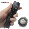 3800Lm CREE XM-L T6 focus adjustable outdoor camping 5 modes led flashlight torch light lamp by 18650 or 3 x AAA