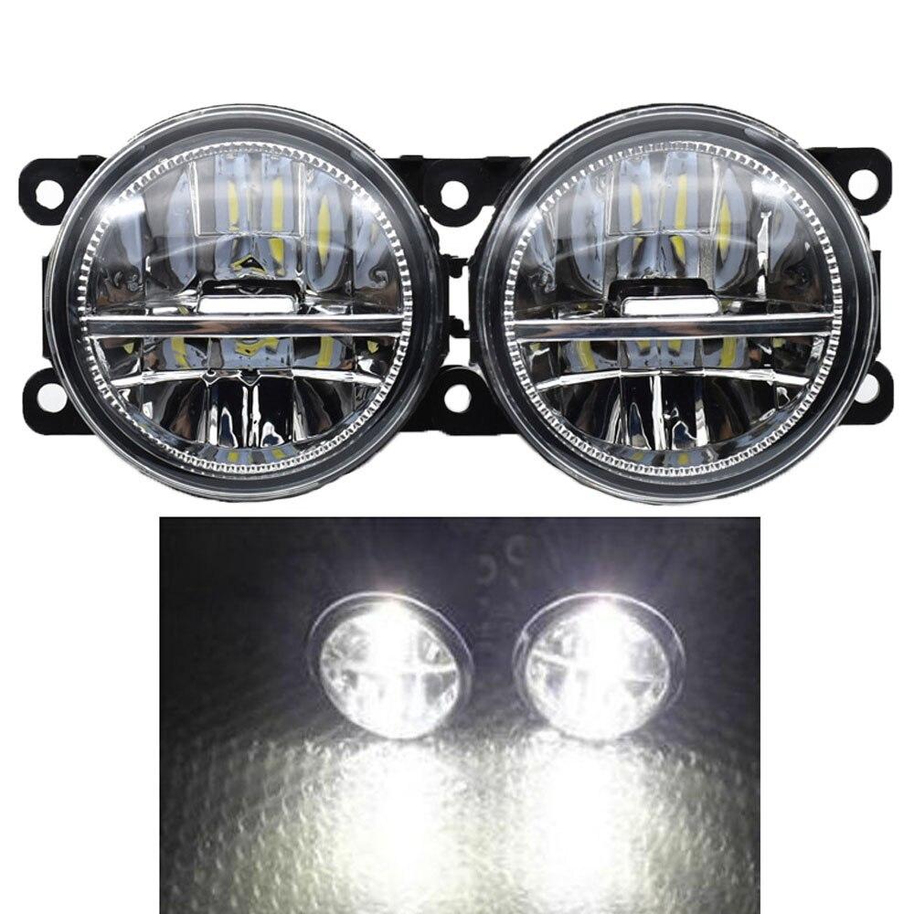 Auto Styling 12 v Leistungsstarke Externe 90mm LED Nebel Licht Für Ford Focus MK2/3 Fusion Fiesta MK7 autos H11 Sockel Halogen Lampe