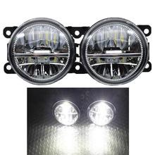 Car Styling 12V Powerful External 90MM LED Fog Light For Focus MK2 3 Fusion Fiesta MK7