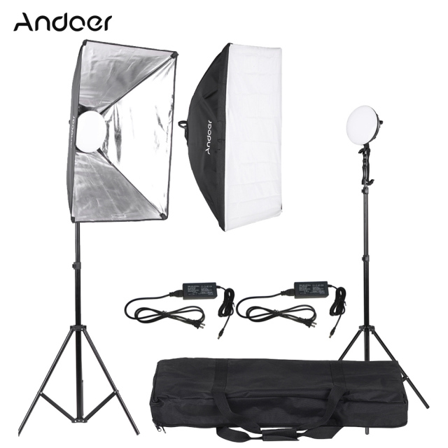 andoer led fotografie foto studio verlichting kit met 230 w led lamp 2