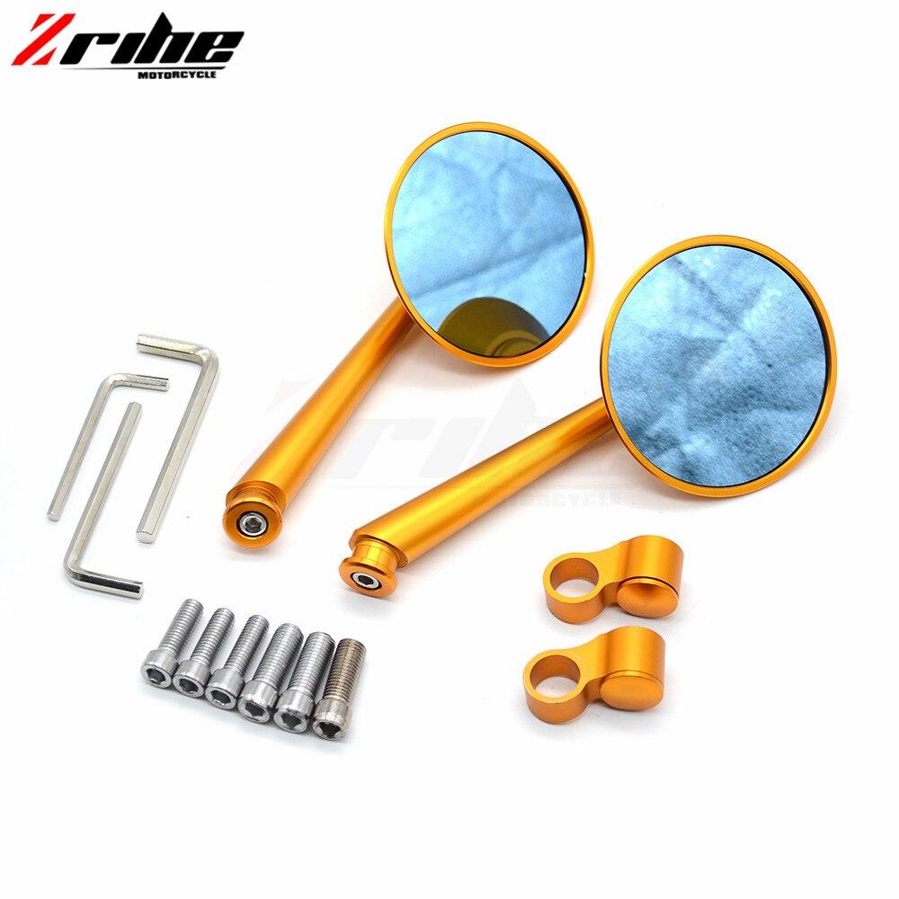 Pour 1 paire universel moto CNC Aluminium de secours rétroviseurs accessoires miroir pour Yamaha FZ6 FAZER 04-10 FZ6R 09-11 FZ