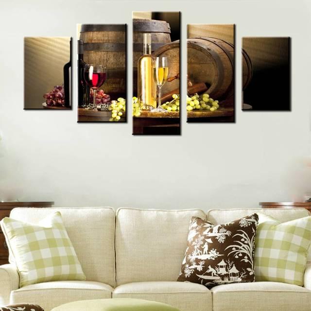 Varios vino con uva arte de la pared para la cocina cuadros de ...