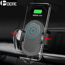 DCAE Car Mount Qi Wireless Charger for iPhone XS Max XR X 8 Plus Usb Charging Pad Holder Stand Samsung S9 S8 Note 9 S7