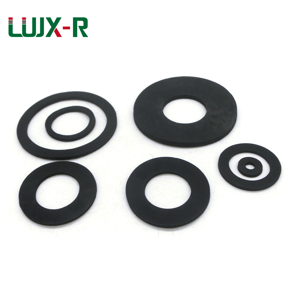 LUJX-R 2mm10pcs Rubber Flat Gasket Seal Washer NBR Ring Bellows Inlet Hose 1/4