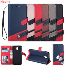 Nephy Flip Leather Cell Phone Case for Samsung galaxy J7 J5 J3 Pro A3 A5 A8 2018 2015 2016 2017 duos PU Casing housing Cover(China)