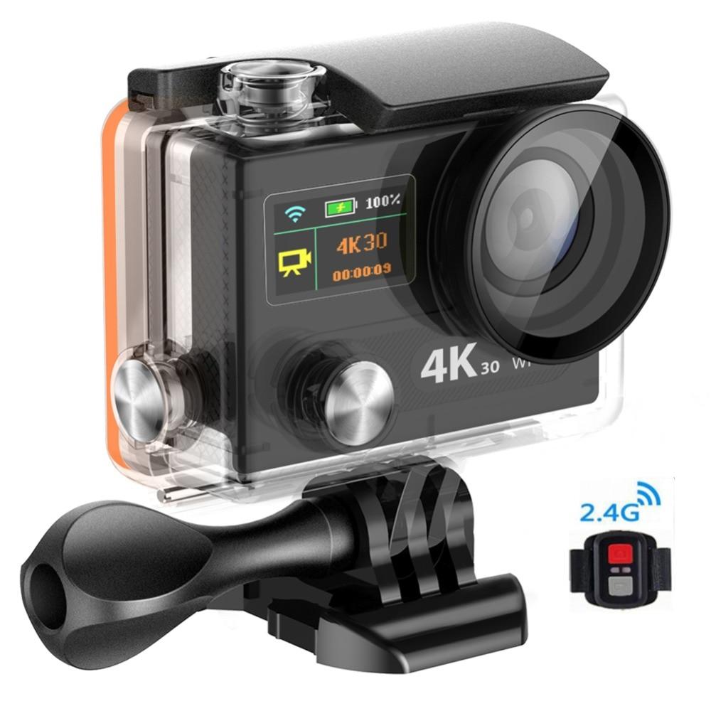 Action camera Winait 12mp Super 4k mini WIFI video Waterproof digital dual display 170 degree wide