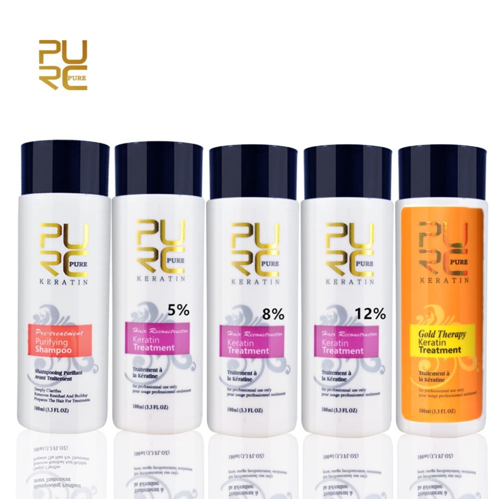 PURC Keratin Straightening Treatment Healing Hair  Blow Dry Purifying Shampoo 100ml Hot New