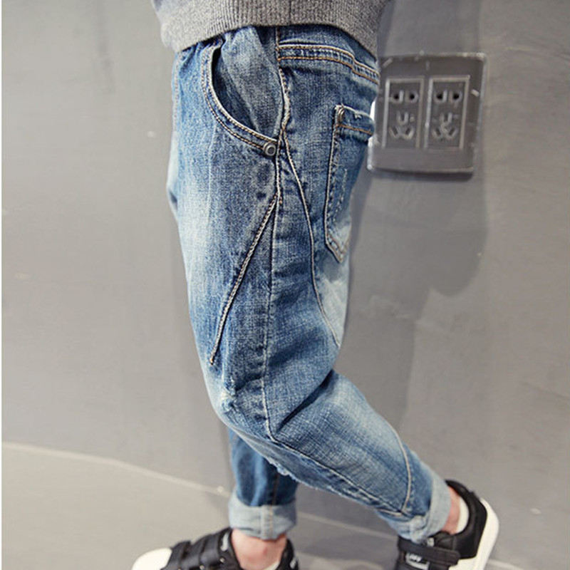 DFXD Boys Jeans Trousers Teens Korean-Style Denim Pants New-Fashion Autumn Long 4-15years title=