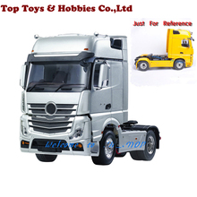 цена на 1/14 remote control trailer head RC 3 Speed Tiaxial TRAILER Hauler Assembly Car For 1:14 RC Tractor Truck #140401