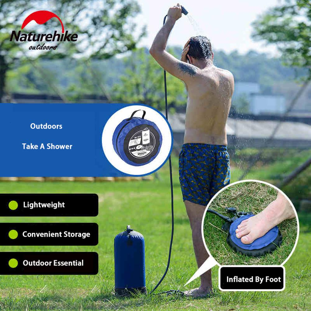 Outdoor Inflatable Shower Pressure Shower Water Bag Portable Camp Showe