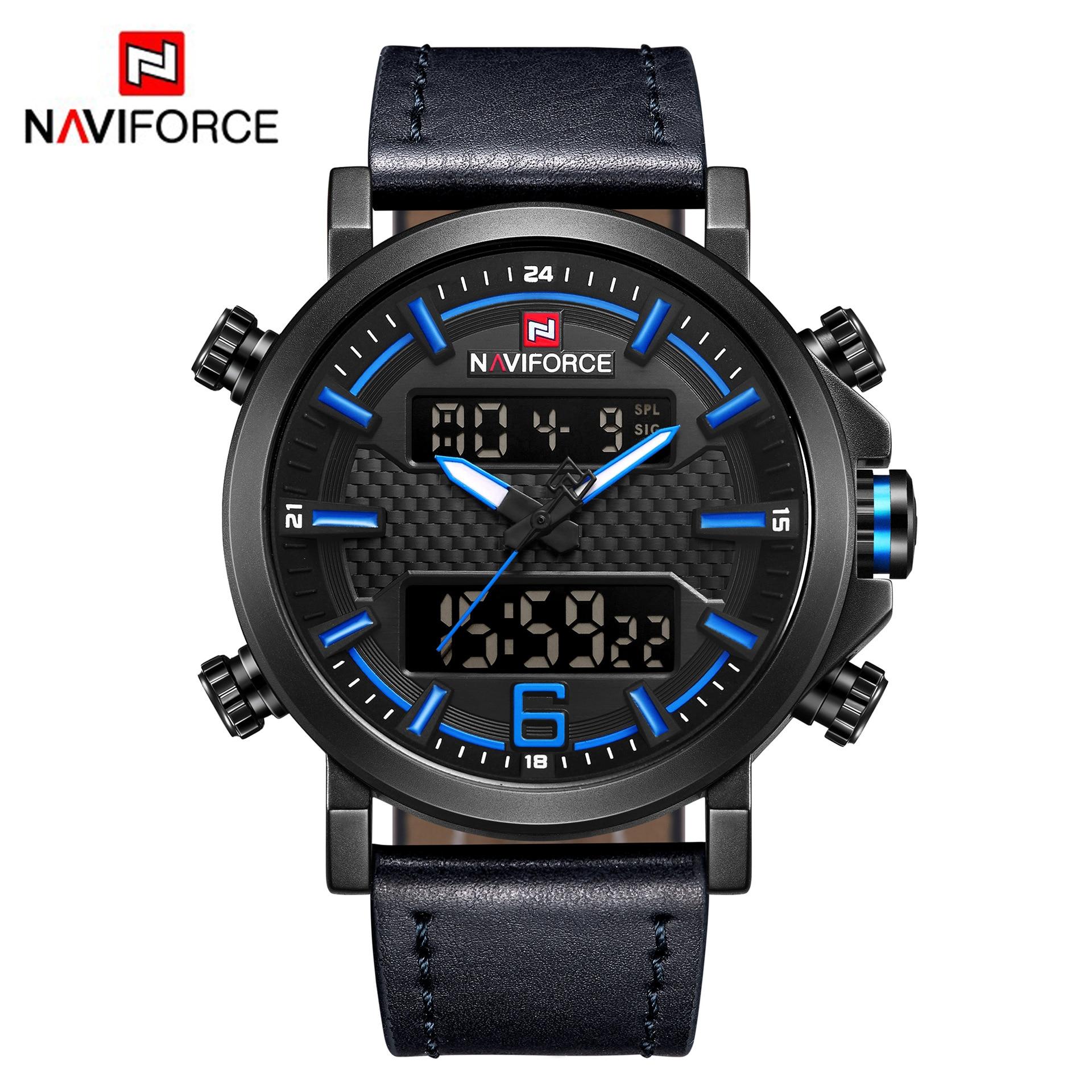 Top marque de luxe NAVIFORCE hommes montres LED étanche militaire numérique Sport hommes horloge homme montre-bracelet relogio masculino