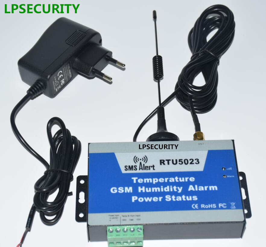 LPSECURITY temperature, humidity, AC Power Status, Solar Power DC Voltage monitoring GSM SMS Alarm controller( 5m cable sensor) lpsecurity 3g s261 gsm sms 4 sensor inputs temperature monitoring rtu online temperature alarm controller data transmission unit