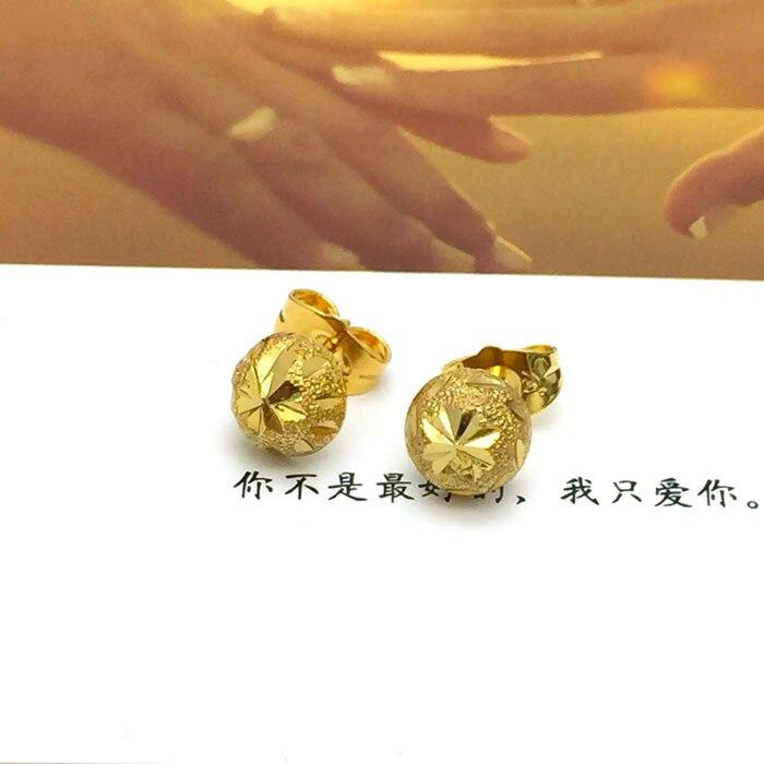 New arrival 24K Gold earrings Colorfast Pattern stud earring for ...