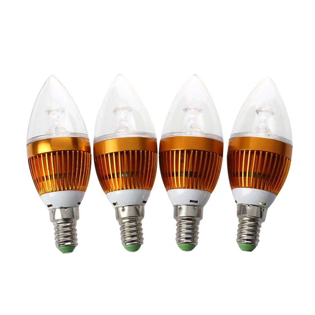 4 x E14 Spot Lamp Bulb 3 LEDs Warm White 3600K 6W