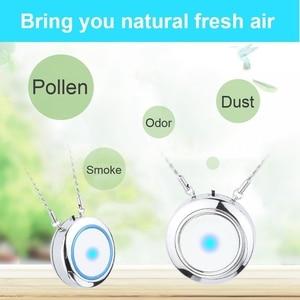 Image 3 - Персональный носимый очиститель воздуха ожерелье/Мини Портативный освежитель воздуха ионизатор/генератор отрицательных ионов/устранения запахов/удаления дыма