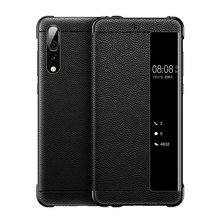 For Huawei P20 Pro Case Genuine Leather Cover For Huawei P20 Flip Case Full Protection PC Smart View Case For Huawei P10 Plus for huawei p20 pro magnetic smart genuine leather flip case 3d crocodile texture luxury business cover for huawei p20 pro case
