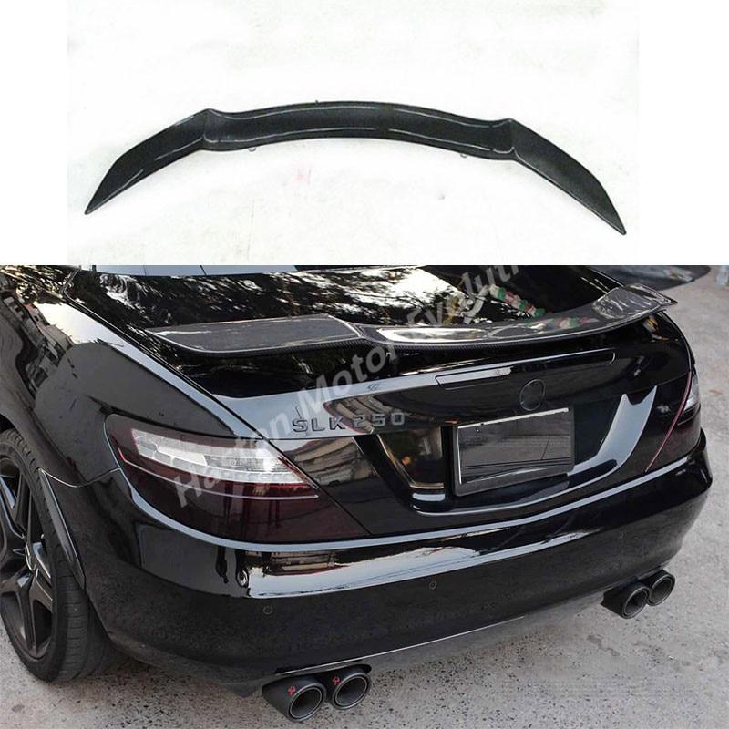 Роуэн Стиль углеродного волокна задний спойлер багажника крыло для Mercedes Benz R172 SLK250 SLK200 SLK350 2012 ~ 2015