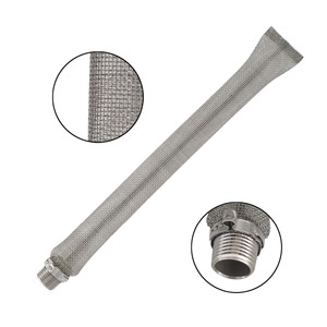 "Bazooka Screen/Filter/Tube with Pipe Fitting for Beer Brewing Boil Kettle 12"" length"