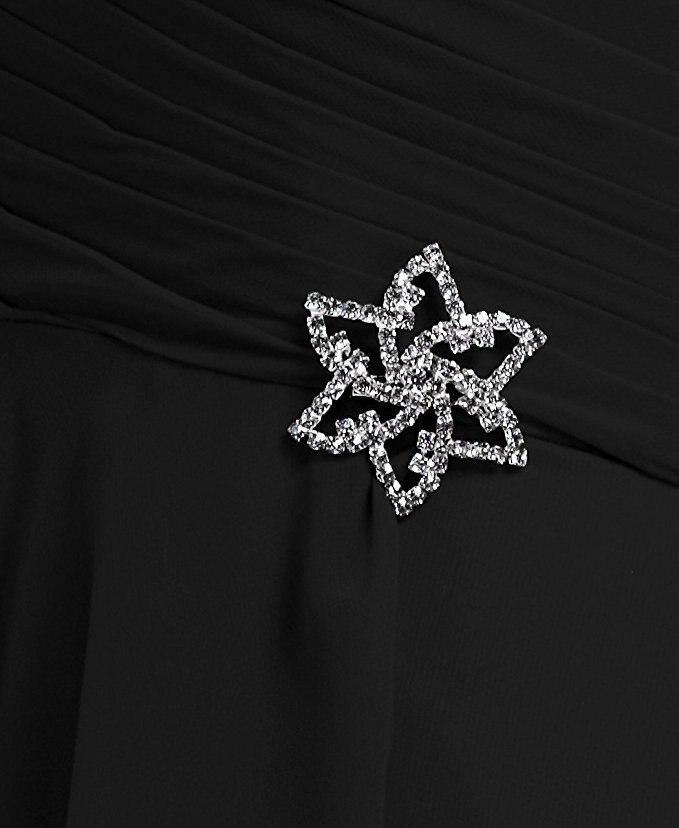 Soie Cristal rouge En Pli Invité Mariage Parti Simple Festa rose pourpre Mousseline Robes Longo Noir De D'honneur Robe Chérie Noir Demoiselles Janevini Longues MpVSzqU