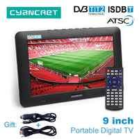 LEADSTAR 9 pouces Portable TV DVB-T2 ATSC ISDB-T tdt numérique et analogique mini petite voiture Support de télévision USB TF PVR MP4 H.265 AC3