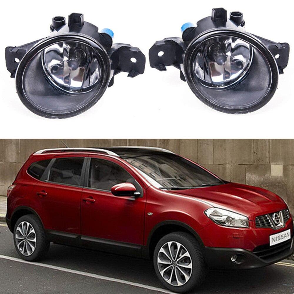 For NISSAN QASHQAI / QASHQAI +2 (J10, JJ10) 2007-2012  Car styling Fog Lamps 55W halogen Lights 1SET for suzuki sx4 gy hatchback 2006 2012 car styling fog lamps halogen fog lights 1set