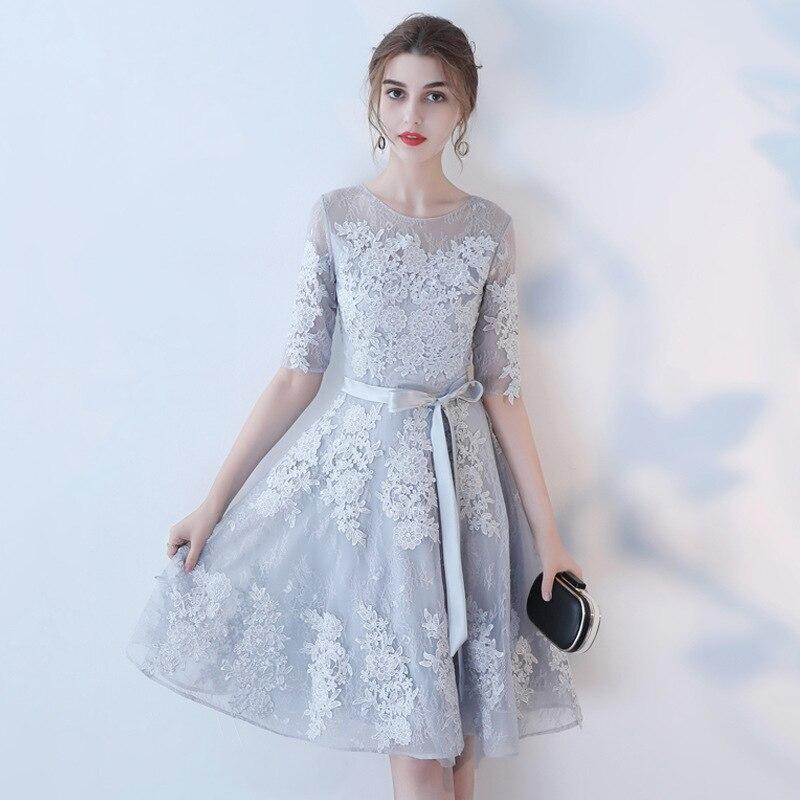 New Shoulder Dress Bridesmaid Dress Graduation Dress 2019  Formal Wedding Party Prom Dresses Robe De Soiree Vestido De Noiva