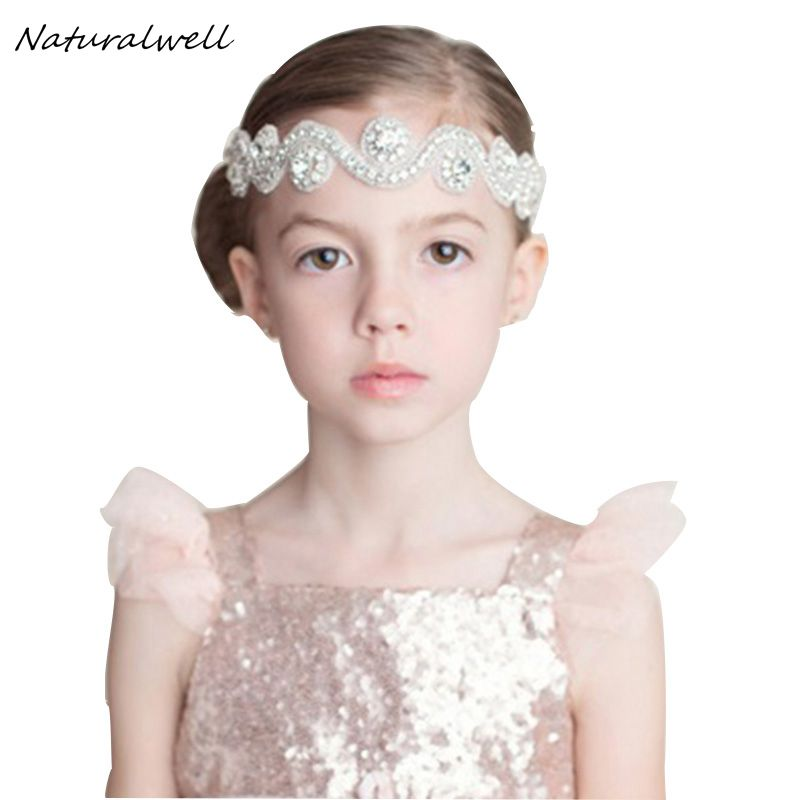 Naturalwell Girls Princess Rhinestone Headbands Beautiful Crystal Lady Hair  Accessories Wedding Jewelry Headwear Ribbon HB423 864ae13444d7