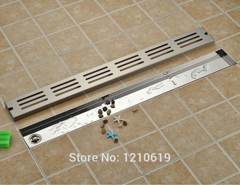 Newly Nickel Brushed Bathroom Floor Drain 90 10cm Stainless Steel Shwoer Strainer Ground Drain