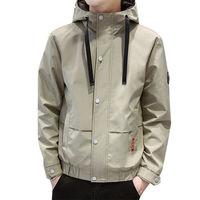 Осень Зима для мужчин повседневное тонкая куртка мужской моды баскетбольная куртка с капюшоном пальто
