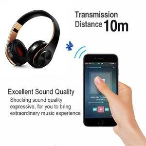 Image 3 - Bluetooth kulaklıklar aşırı kulak kablosuz kulaklıklar katlanabilir stereo kulaklık mikrofonlu kulaklık desteği TF kart FM PC müzik MP3