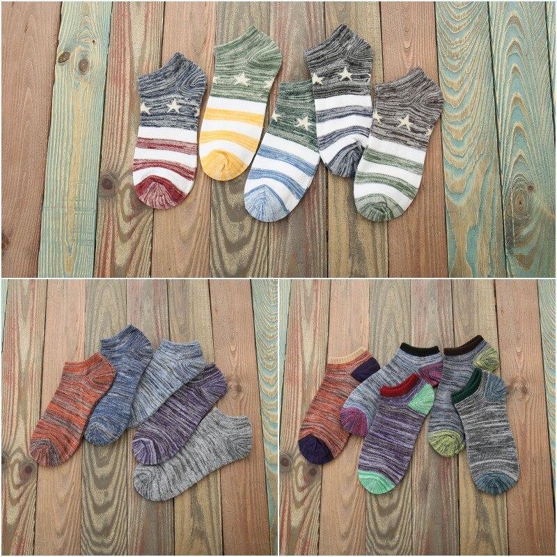 [La MaxPa] Men Sock 10pieces=5 Pairs/Lot Male Summer Light Socks Cotton Short Sock Wholesale Couples Socks Sale