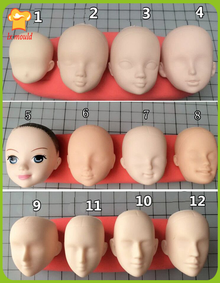 Silicone Mold Polymer Clay Tools Molds Human Body//Baby Face Mold,Fondant Sugarcraft Molds,Cake diy Craft Mold Baby Face