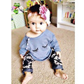 2017 New Autumn Baby Girls Clothing Set Cute Cotton Cute Long Sleeve T-shirt Top+Pants 2 Pcs Suit Lovely Bebe Clothes 4-24 M