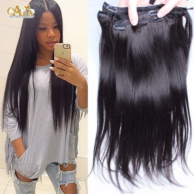 7a clip in human hair extensions 7pcs120g virgin brazilian 7a clip in human hair extensions 7pcs120g virgin brazilian straight hair clip ins silk pmusecretfo Images