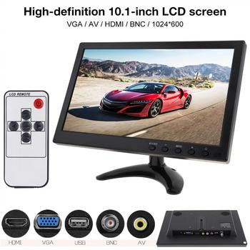 10.1 Inch IPS TFT LCD Monitor Mini TV Computer 2 Channel Video Input Security Monitor with Speaker AV BNC VGA HDMI