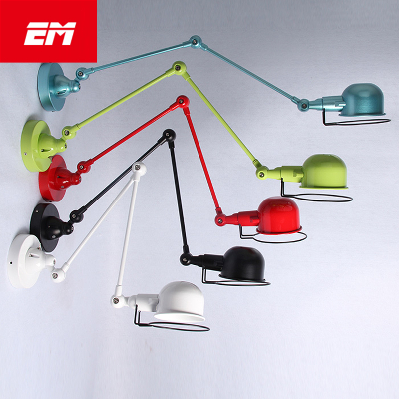 Colorful Wall Lights LOFT Double Arm Bedside Lamp Restaurant Light Fixtures Led Wall lamp E14 Indoor Lighting ZBD0074 modern lamp trophy wall lamp wall lamp bed lighting bedside wall lamp
