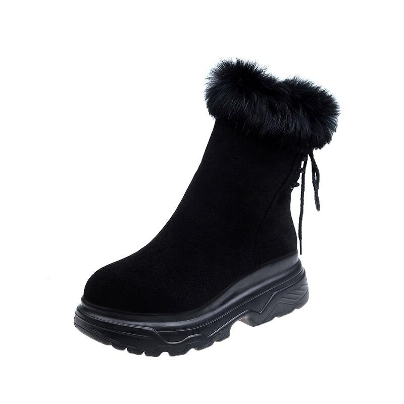 Mujer Zapatos Bajos 2019 Marca Invierno Botas Xiuningyan Con xIxq8w6S