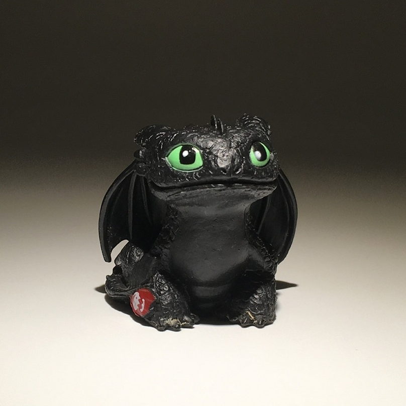 Toys Toothless Dragon Master Night-Fury Doll Cartoon for Children 7cm Ornaments Plush-Toy