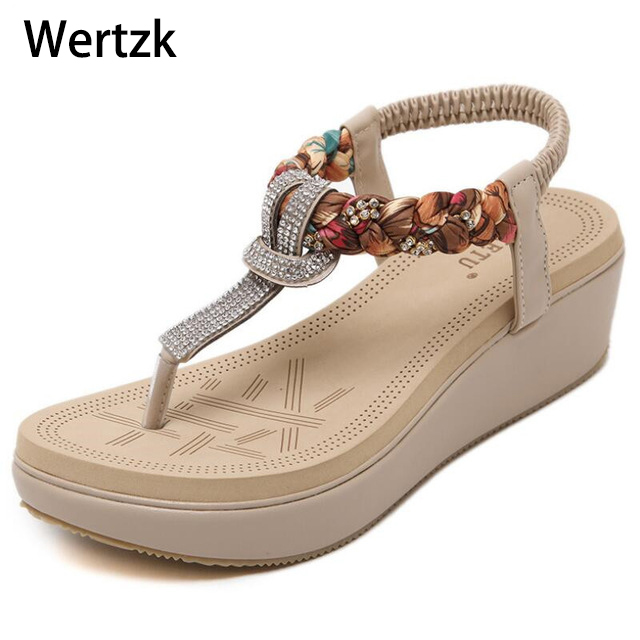 Platform Sandals Casual-Shoes Women Flats Sexy Gladiator Bohemia Fashion Summer Beach
