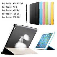 Für Teclast P98 3G 4G Octa Core 9,7 ''Tablet pc/X98 Air 3G/Air II/X98 Pro PU Leder Ultra dünne drei Falten folio Stand Fall