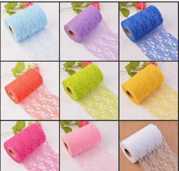 10Pcs 10Yard/Roll Cheap 15CM non-elastic Silk lace lace diy features headdress wedding decorations diy clothing accessories lace